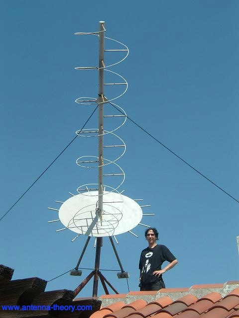 picture of helix antenna on a roof