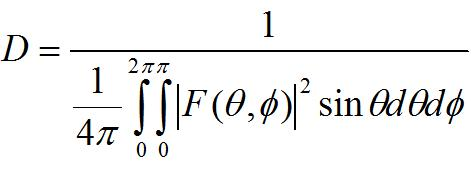 equation for an antenna's directivity